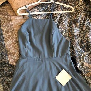 Lulus dusty blue floor length dress